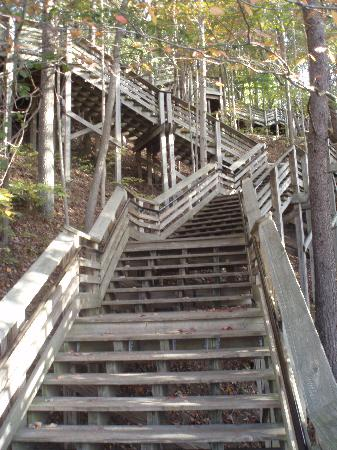 New River Gorge Bridge: Steps