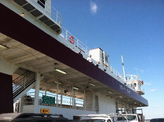Galveston - Port Bolivar Ferry: A look at the upper deck