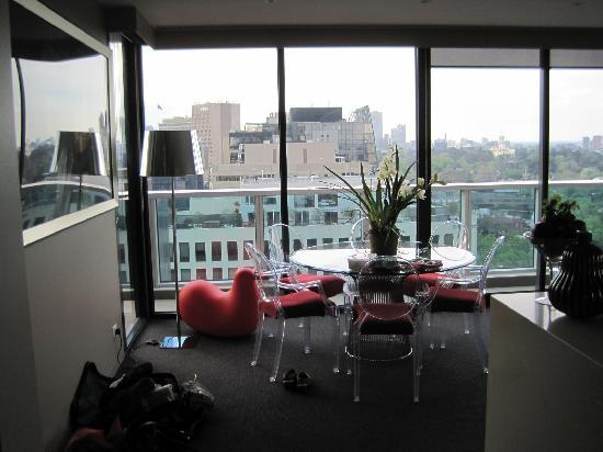 Art Series - The Blackman: Dining area of Penthouse