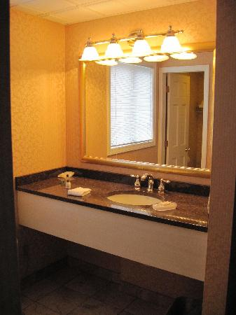 King's Port Inn: The massive vanity is nice when you have more than one person needing to use it at the same time