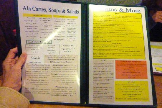 Rudy & Angie's Mexican Food: Menu