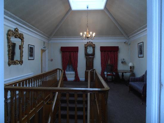 The Old Hall Hotel : Landing at top of main stairs