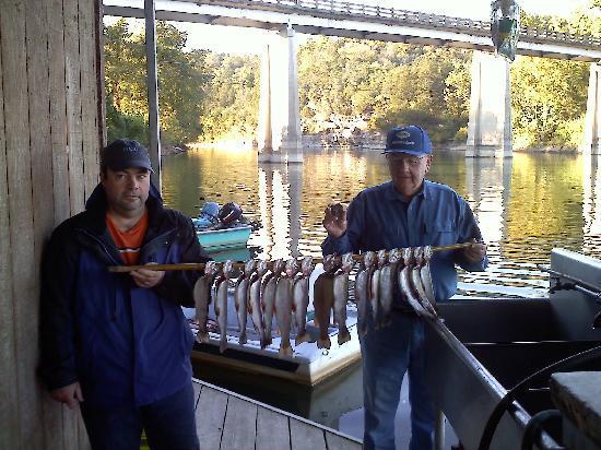 Angler's White River Resort: 3 licenses X 5 daily limit = 15