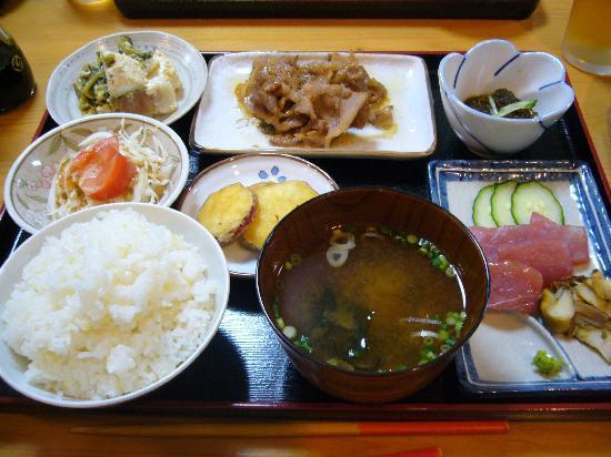 Pension Hamayu: 夕食のメニュー