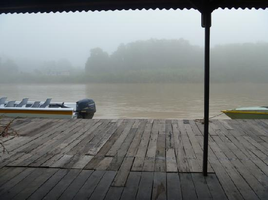 Bilit Rainforest Lodge: mist at 6am cruise