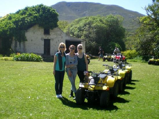 Quad Explore Nature Trails : Mum & teenagersTyler & friend Emma at the farmstead