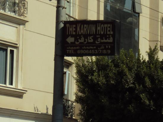 The Karvin Hotel : Signposted from the main road.