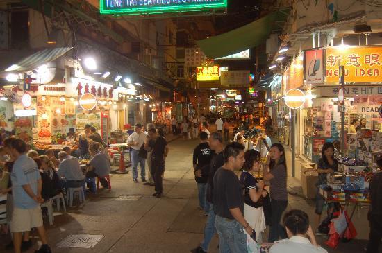 Temple Street Night Market Crowds