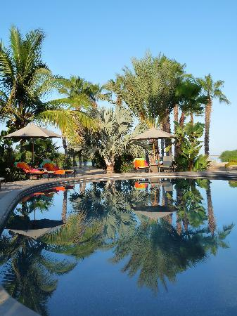 Posada La Poza: large saltwater pool embeded in tropical gardens