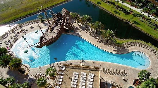 Lake Buena Vista Resort Village & Spa: our view of the pool