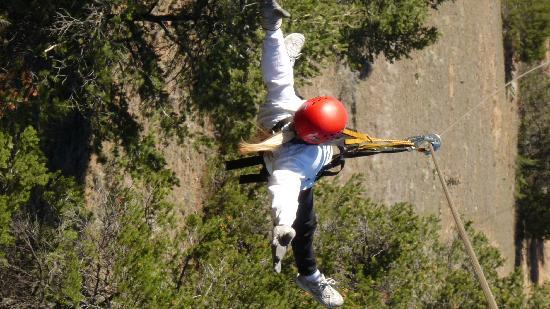 Royal Gorge Zip Line Tours: Donna showing off