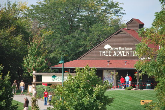 Arbor Day Farm Tree Adventure in Nebraska City, Nebraska