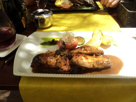Zebra Steak & Grill : My main course was huge but the flavours were delicious.. rabbit.