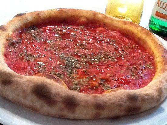 Pizzeria Leon d'Oro: pizza marinara al leon d'oro verona ott2011