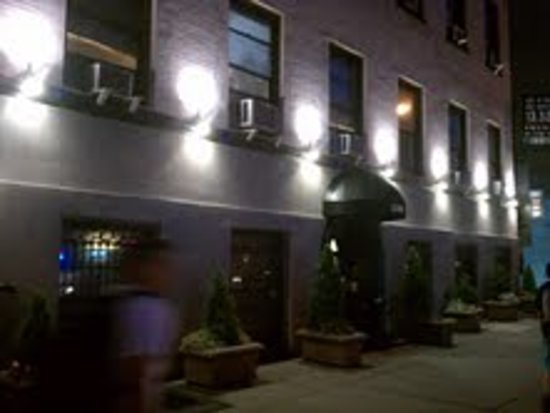 Hotel 309: Front of building at night