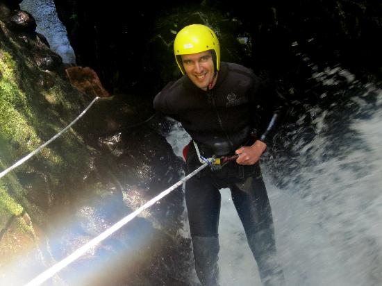 AWOL Canyoning Adventures: Start of the Water Fall Abseil