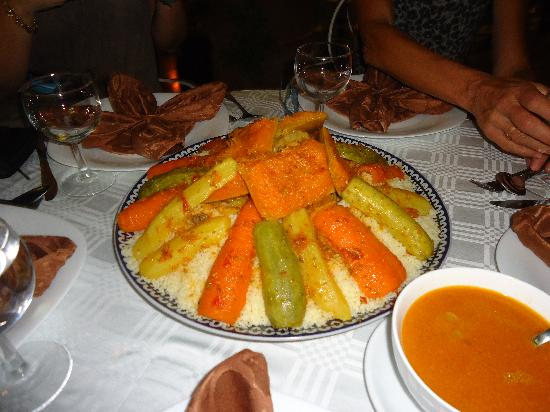 Riad L'Arabesque: couscous