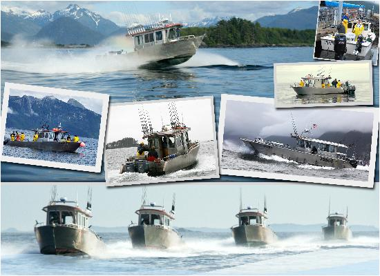 Wild Strawberry Lodge: Our fleet of six fishing vessels will get you to and from the salmon and halibut fishing grounds
