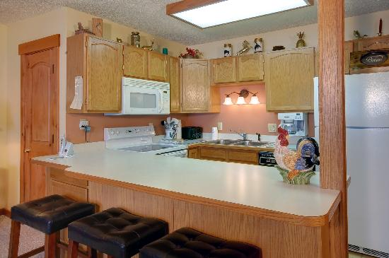 Storm Meadows at Christie Base: Sample kitchen