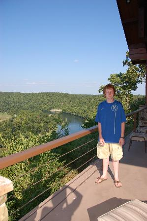 The White River Inn: spectacular view from porch