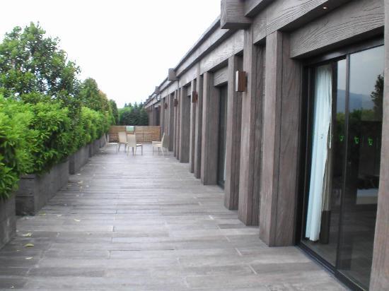 Noah's Ark Resort: Auf der Reling, unserer Terrasse