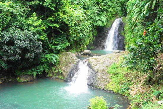 Parque Nacional de Grand Etang, Grenada: The bottom two falls