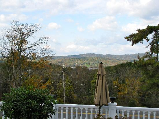Belvedere Mansion: View from the side of our deck