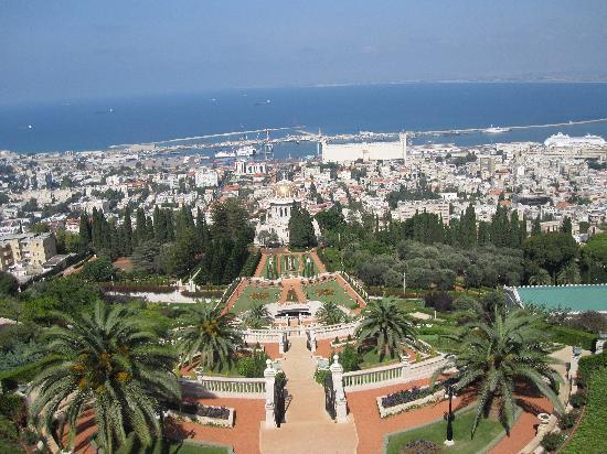 Jardines de Baha'i y Domo Dorado: View of the gardens 1