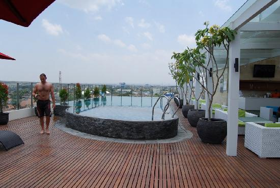 Ibis Styles Yogyakarta: the swimming pool area on 7th floor