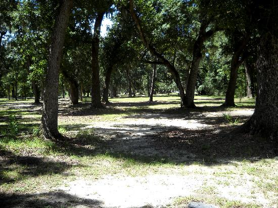 Fontainebleau State Park: park grounds in front of visitor center