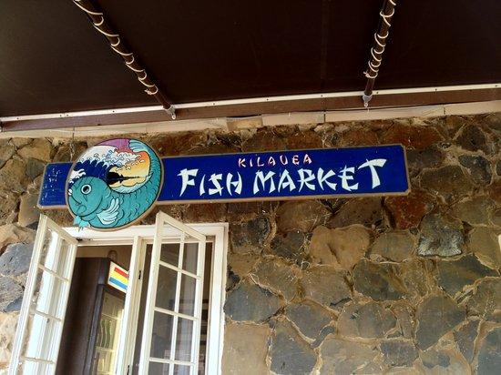 Kilauea Fish Market sign