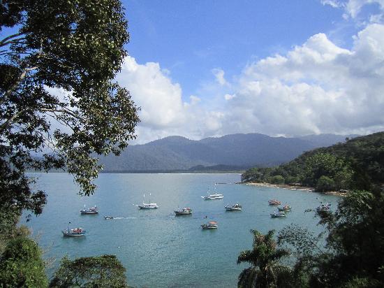 Pousada Picinguaba: die atemberabende Aussicht von unserem Balkon