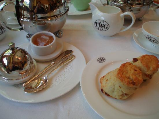 TWG Tea at Republic Plaza: scones set