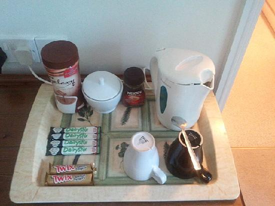 Rosemead Guest House: hospitality tray - as you can see:tea, coffee, milk and biscuits. everything is there!