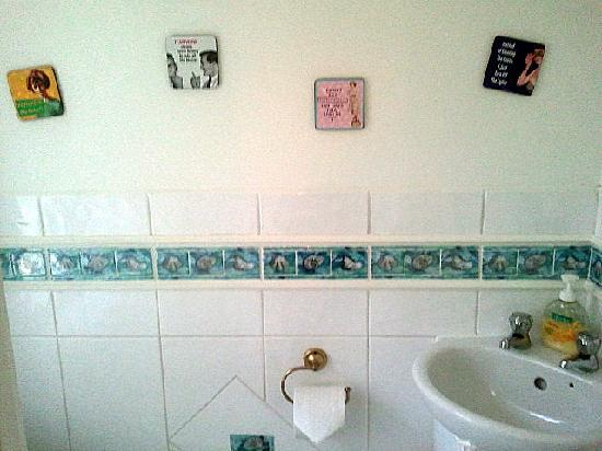 Rosemead Guest House: stickers on the wall in the shared toilet :)