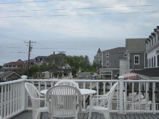New Shoreham House: Partial view from the right side of the deck, ocean is the front view.