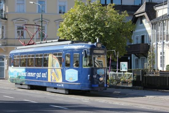 Historische Strassenbahn Gmunden: Straßenbahn auf der Esplanade