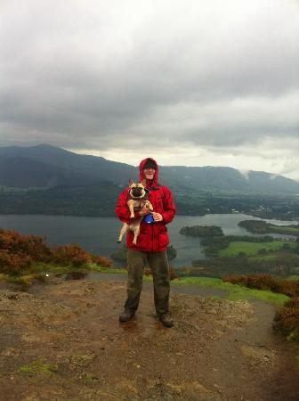 Larry's Lodge: View over Keswick from Walla Crag