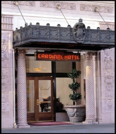 Cardinal Hotel entrance