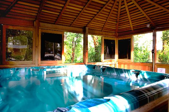 Teton Valley Cabins: Large, protected jacuzzi