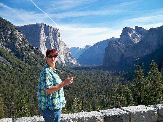 Valley Visitor Center: My wife's first view of Yosemite Valley