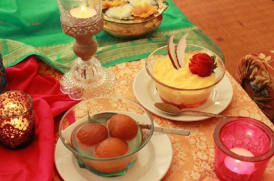 Gulab jamun, Coconut pudding - Ganesh Utsav, Vysoka 2/A, Bratislava,  Slovakia