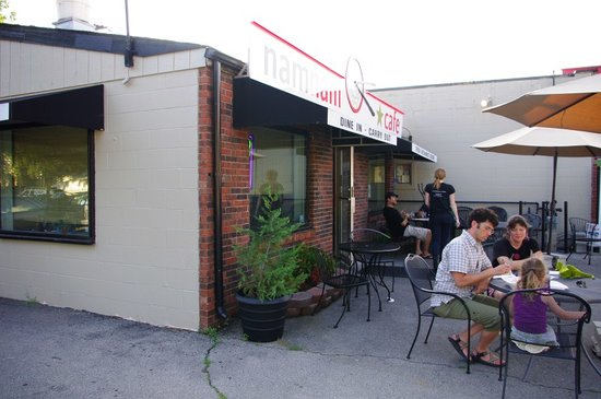 Outside of Nam Nam Cafe