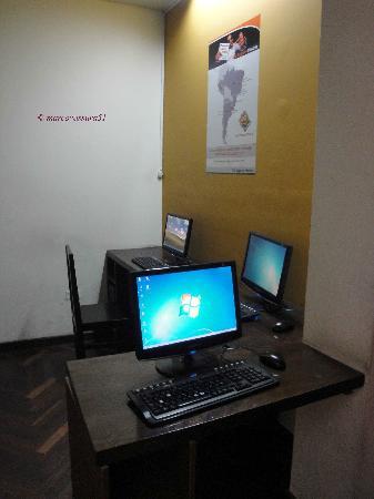Che Lagarto Hostel Lima: postazione gratuita internet
