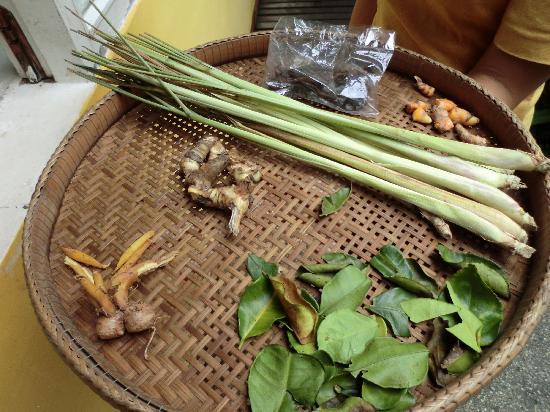 Senteurs d'Angkor: Ingrediants for Amok (Cambodian soup)