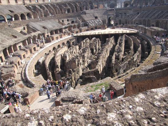 Europe Odyssey Tours: catacombs beneath Colosseum