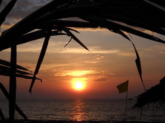 Bamboo House Goa: Sunset