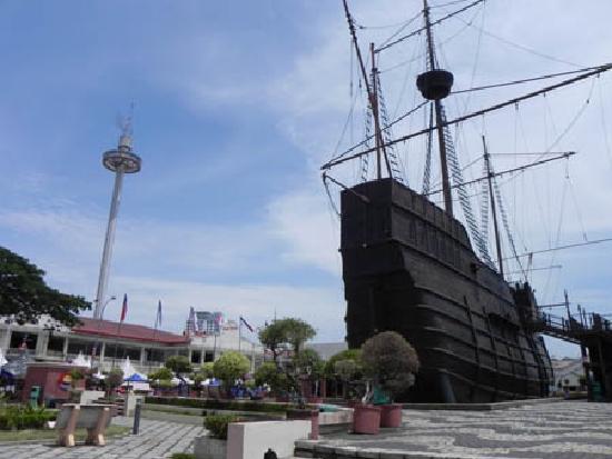 Menara Taming Sari: The tower from Melaka Maritime Museum.