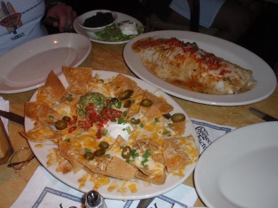 The Cheesecake Factory: The nacho's and jumbo Burrito