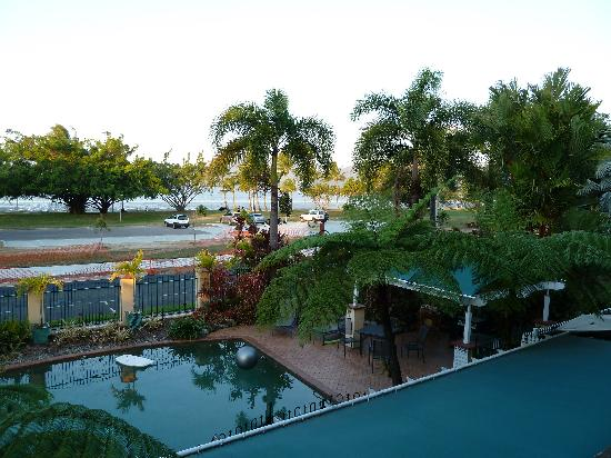 Waterfront Terraces: View off our balcony over the pool